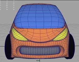 3D model Concept Car Google 2 point 0