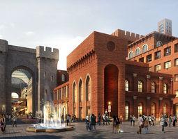 modular City Shopping Mall 3D