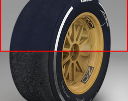 18 inches Medium front tyre 3D Model