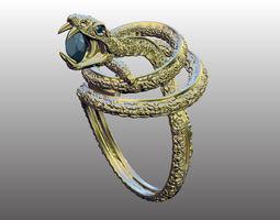 3d printable model ring snake 2
