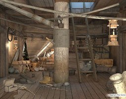 Storage room on the ship 3D Model