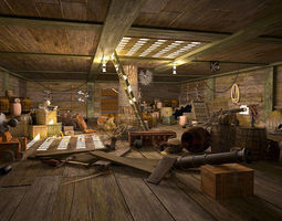 Armory Cabin 3D Model