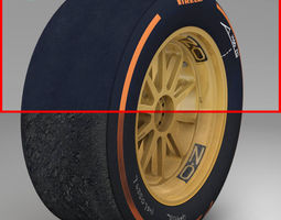 18 inches hard front tyre 3D Model