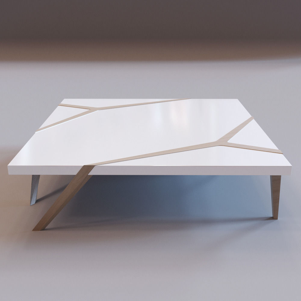 Roche bobois mangrove cocktail table 3d model game ready for Cocktail tables parts