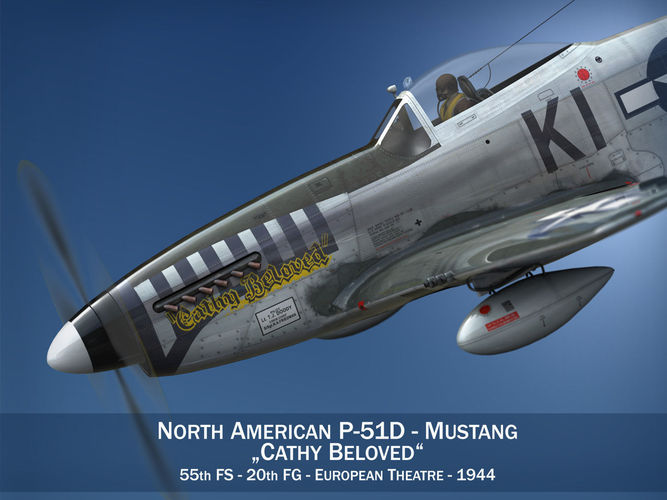 North American P-51D Mustang - Cathy Beloved3D model