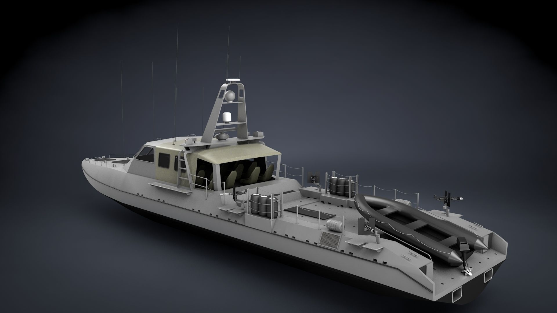 Mark V Special Operations Craft 3d Model Max Obj 3ds
