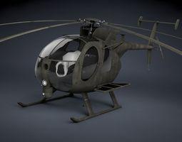 MH-6 Little Bird SOAR Transport 3D Model