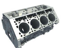 V8 Engine Block 3D Model