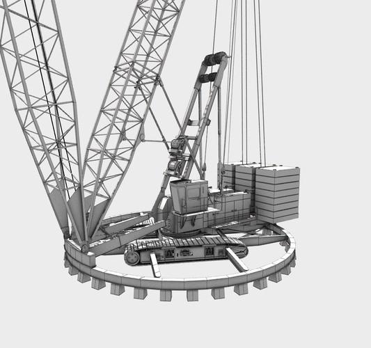 ringer crane 3d model  max  obj  3ds  fbx