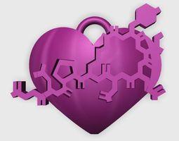 Oxytocin Heart Pendant 3D Model