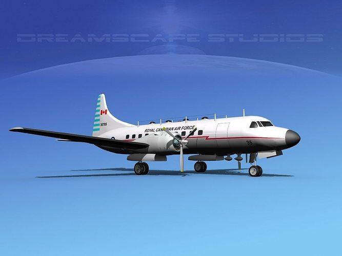 convair t-29 royal canadian af 3d model max obj mtl 3ds lwo lw lws dxf stl 1