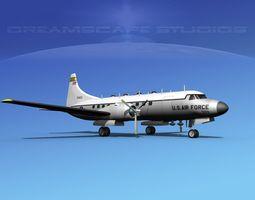 3D model Convair T-29 USAF V01