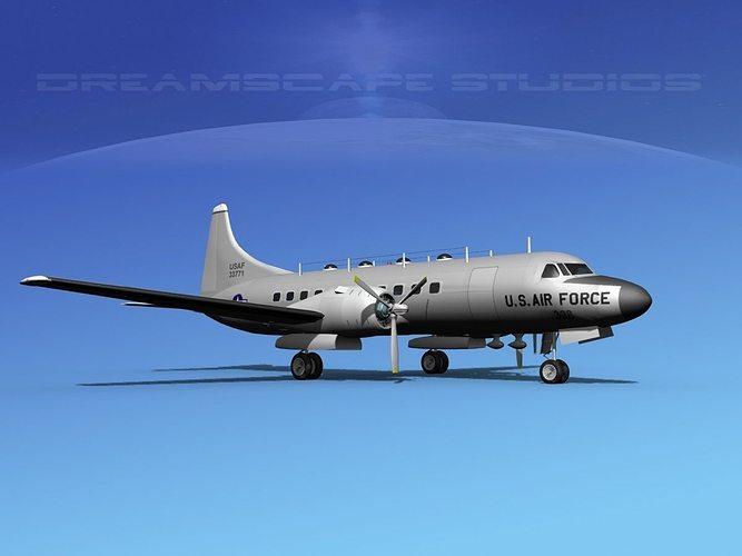 convair t-29 usaf v03 3d model max obj mtl 3ds lwo lw lws dxf stl 1