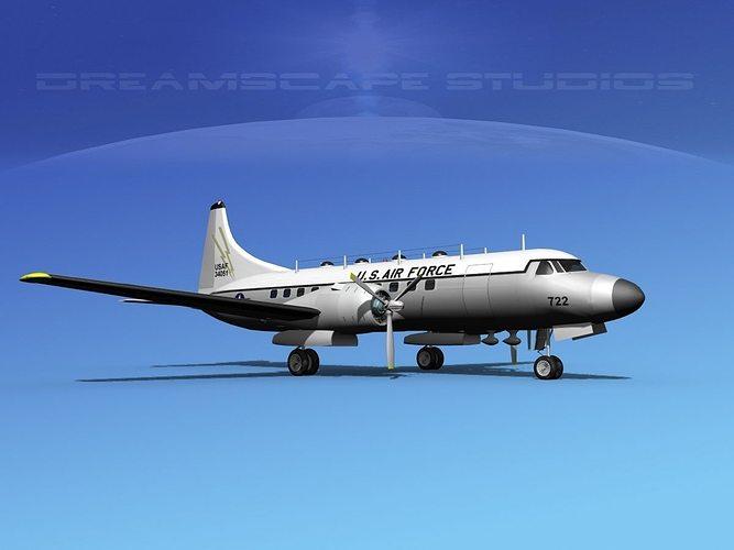 convair t-29 usaf v04 3d model max obj mtl 3ds lwo lw lws dxf stl 1