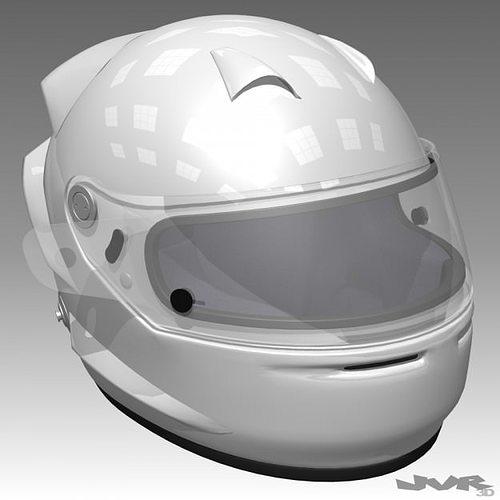 race car helmet 3d model max obj mtl 3ds fbx 1