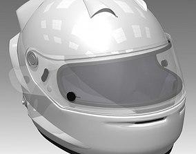 Race Car Helmet 3D model