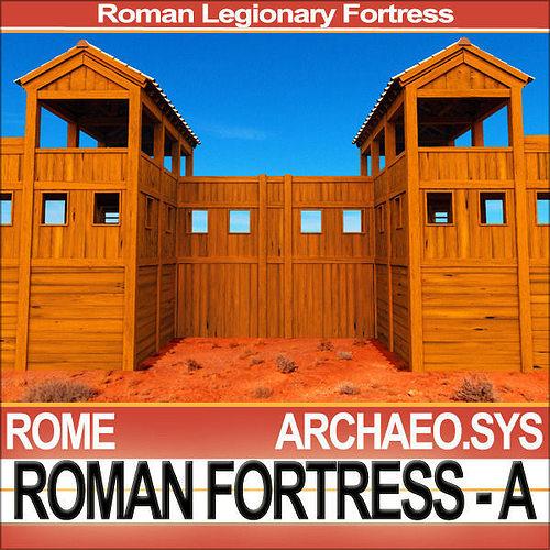roman legionary fortress model a 3d model obj 3ds c4d vue 1