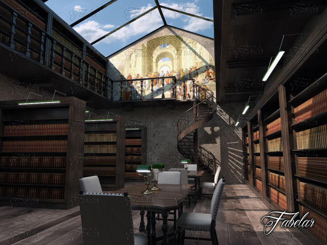 Library 013D model