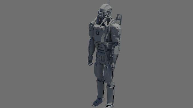 Elysium Robot3D model