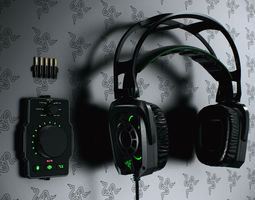 Razer Tiamat Headsets  3D Model