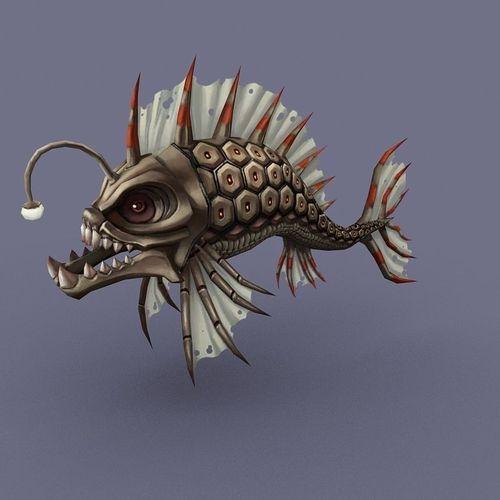 fish cartoon3D model