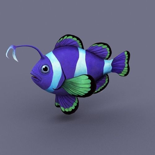 Sapphire fish cartoon3D model