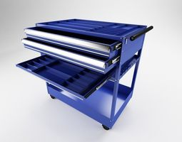 Tool Trolley 2x and 8x 3D Model