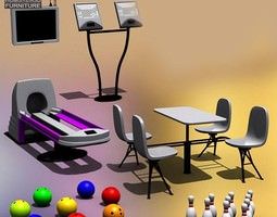3D asset Bowling set