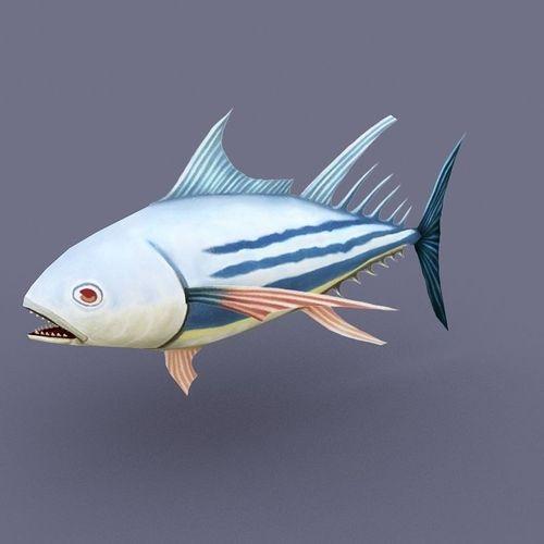 Striped Tuna Light cartoon3D model