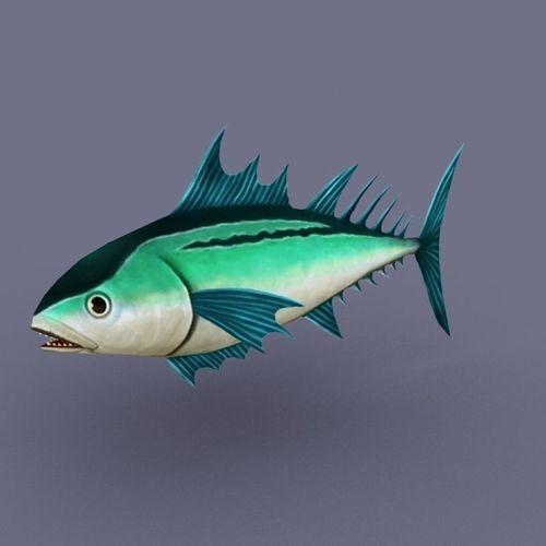 Tuna Emerald fish cartoon3D model