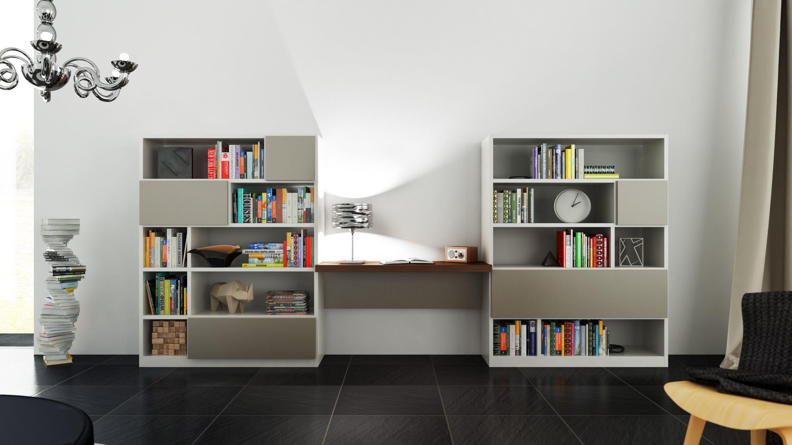 molteni 505 5 with books 3d model c4d. Black Bedroom Furniture Sets. Home Design Ideas