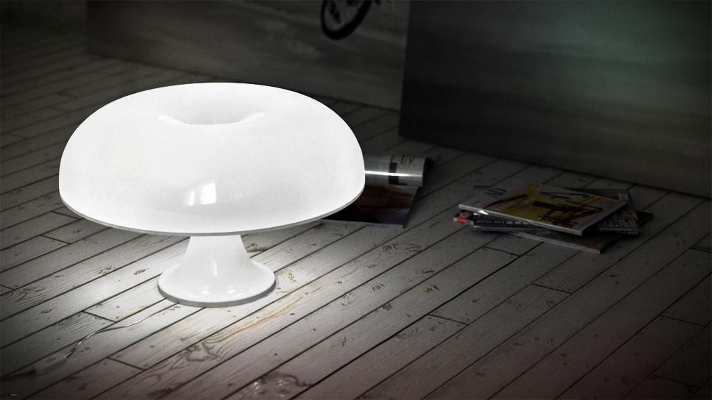 artemide nesso table 3d model c4d. Black Bedroom Furniture Sets. Home Design Ideas