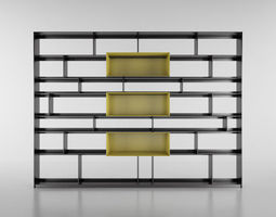 B and B Bookcase bookcase 3D