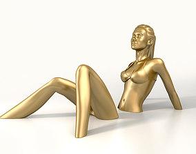Sunbath Girl Sculpture 3D model realtime