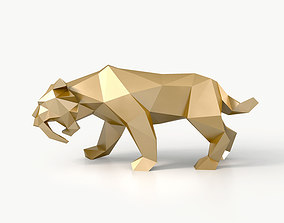 3D model low-poly Low Poly Saber Toothed Tiger
