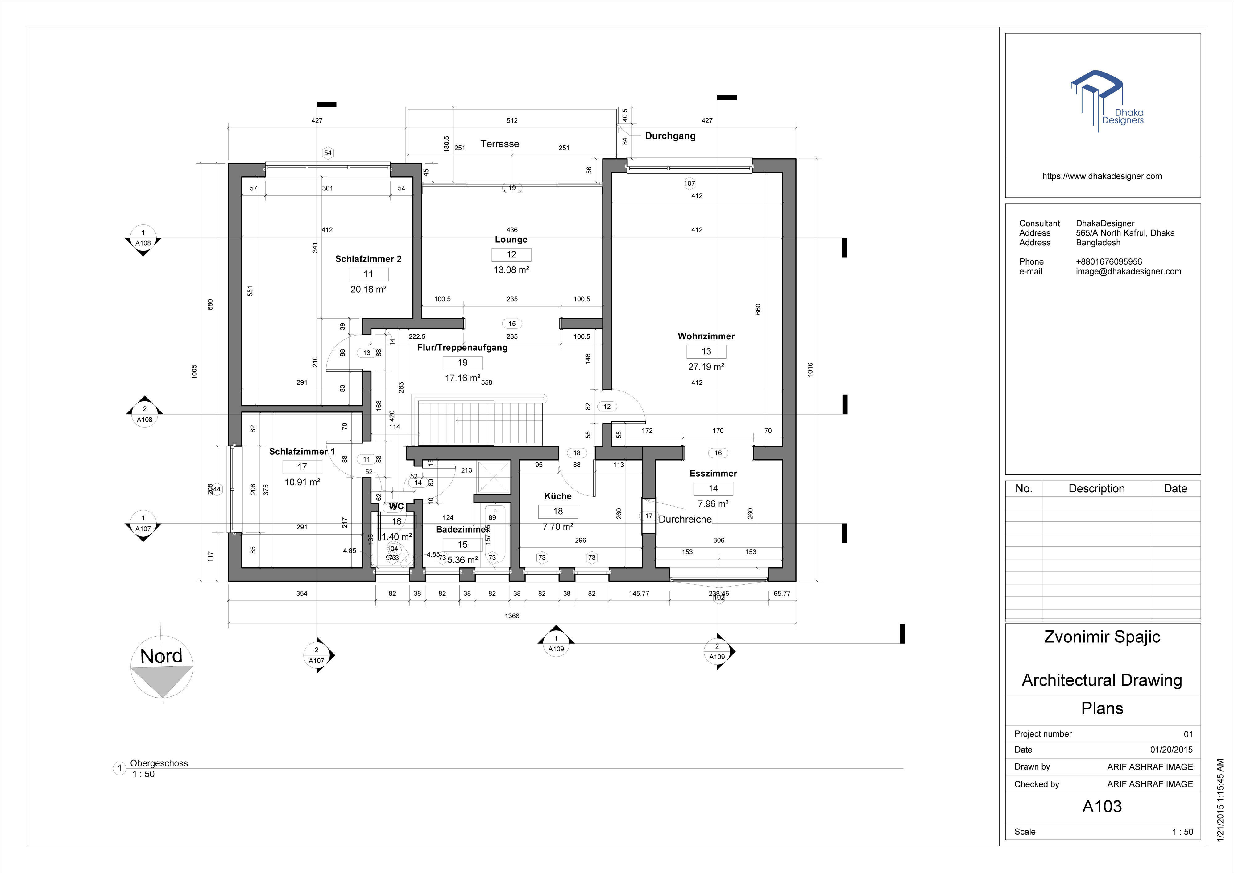 Architectural Drawing In Revit 3d Model Rvt 4