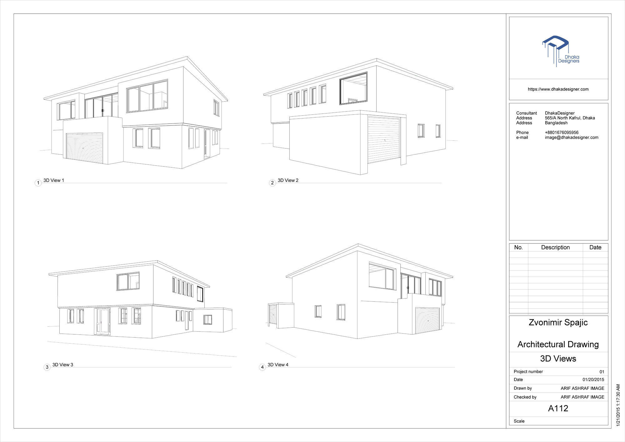 architectural drawing in revit free 3d model  rvt