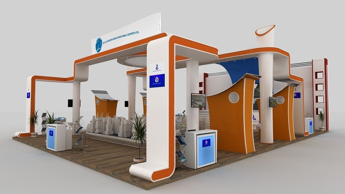 3d Exhibition Stand Design Free Download : Exhibition d model max fbx cgtrader