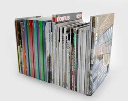 3d model various magazine