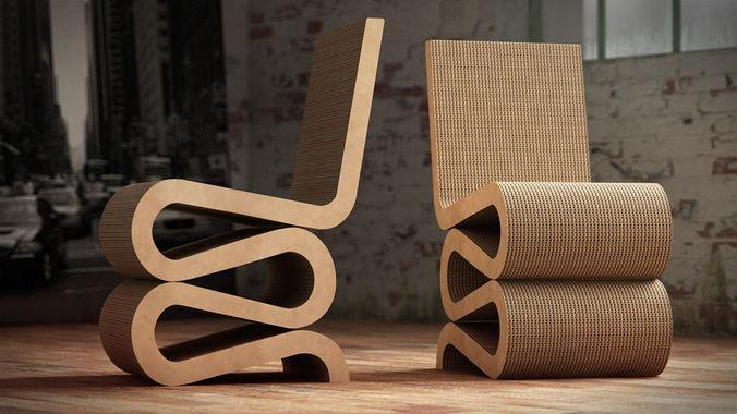 vitra wiggle side chair 1 3d model c4d. Black Bedroom Furniture Sets. Home Design Ideas
