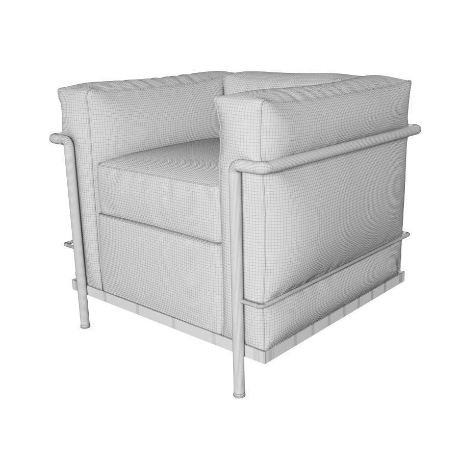 Cassina LC2 Armchair 3D Model MAX OBJ FBX - CGTrader.com