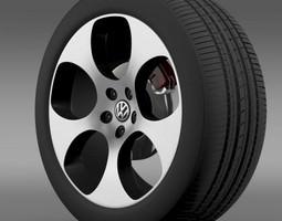 3D model VW Polo GTI 2011 wheel