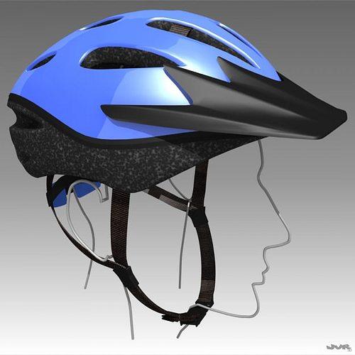 bicycle helmet 3d model max obj 3ds fbx mtl 1