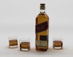 Scotch Johnnie Walker 3D