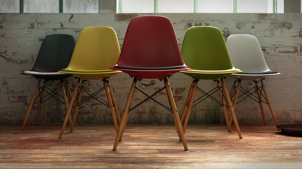 Vitra Eames Plastic Side Chair Dsw 3d Model C4d ...