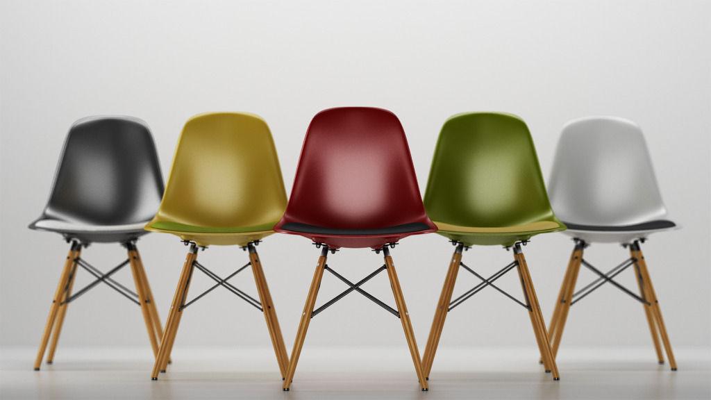 vitra eames plastic side chair dsw 3d model c4d. Black Bedroom Furniture Sets. Home Design Ideas