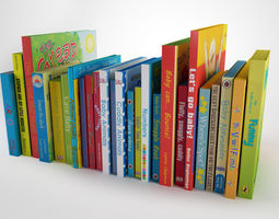 3d model children book collection