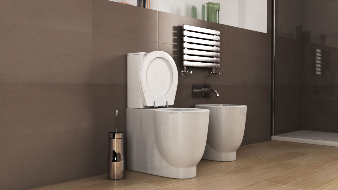 Ideal Standard Toilet : 3d ideal standard small toilet n34 cgtrader
