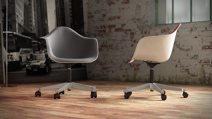 Eames Plastic Armchair : 3d vitra eames plastic armchair pacc cgtrader