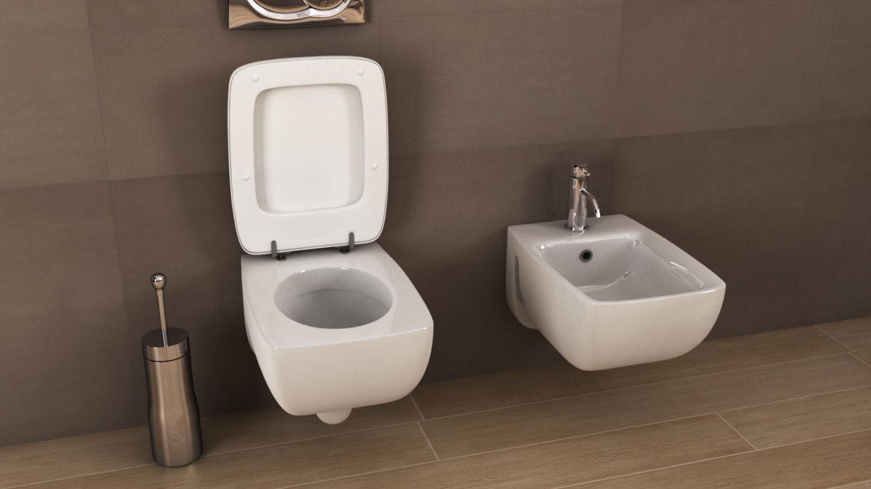 ideal standard cantica toilet n16 3d model c4d. Black Bedroom Furniture Sets. Home Design Ideas